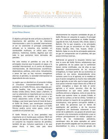 Petróleo y Geopolítica del Golfo Pérsico - Centro de Investigación e ...