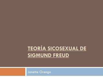 Teoría sicosexual de Sigmund Freud
