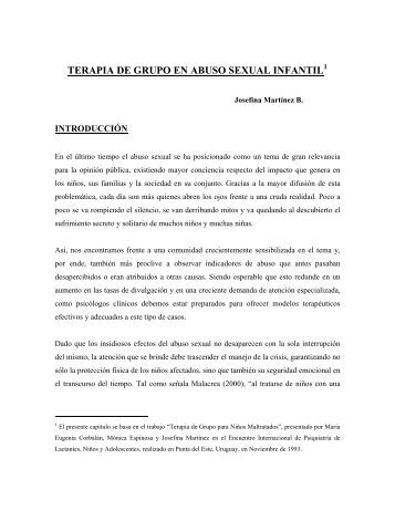 TERAPIA GRUPAL EN ABUSO SEXUAL INFANTIL - Buen Trato