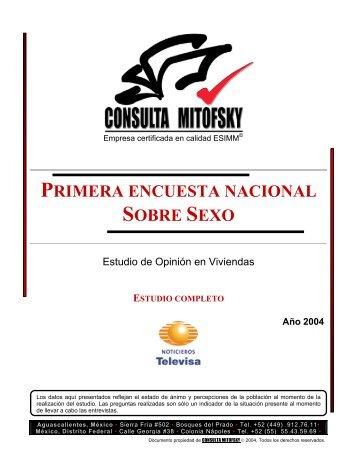 Primera Encuesta Nacional sobre Sexo en México