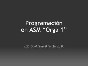 Ensamblado y programación