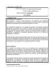 Programación Estructurada - Instituto Tecnológico de Aguascalientes