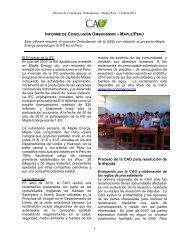 Espanol - Compliance Advisor Ombudsman