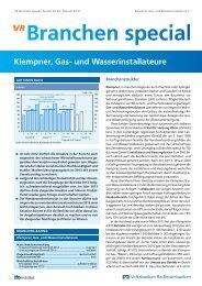 Klempner, Gas- und Wasserinstallateure - Raiffeisenbank eG