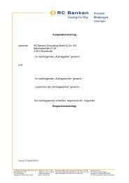 Vorlage Kooperationsvertrag Version 2.2 Stand 08.2011 - RC Banken