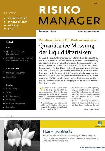 Quantitative Messung der Liquiditätsrisiken
