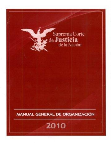 Manual General de Organización de la SCJN - Suprema Corte de ...