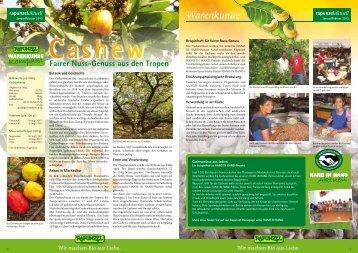 Warenkunde Cashew als PDF (842 KB) - Rapunzel
