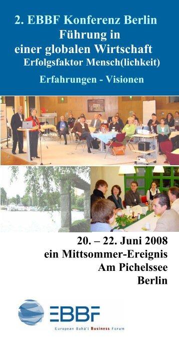 2. EBBF Konferenz Berlin Führung in einer globalen ... - redi-Group