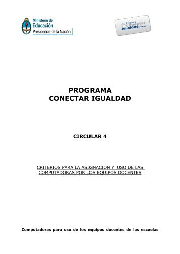 PROGRAMA CONECTAR IGUALDAD - Gobierno de la Provincia de ...