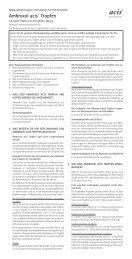 Ambroxol acis® Tropfen - acis Arzneimittel