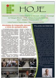 Ano 1 - Edição nº 3 - Fevereiro/2013 - Iftm