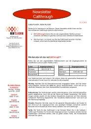 finden Sie detaillierte Informationen zum Callthrough