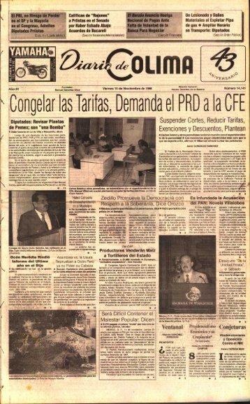 Tarifas , LCongelar las - Universidad de Colima