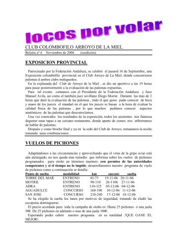 Boletin nº 6 - Club Colombófilo Arroyo De La Miel