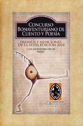 V Concurso Bonaventuriano de Cuento y Poesía 2009 - Universidad ...