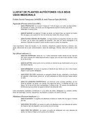 llistat de plantes autòctones i els seus usos medicinals