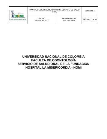 ESTANDAR DE CALIDAD - Facultad de Odontología - Universidad ...
