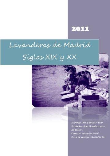 Lavanderas de Madrid: Siglos XIX y XX - Somos de Colores - home