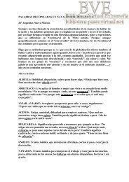 Palabras recopiladas en Navalmoral de la Mata por Mª Angustias ...