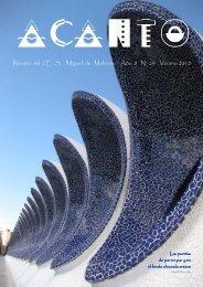 Revista del I. E . S . Miguel de Molinos. Año 8 Nº 24 Verano 2010