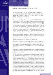 Destilería Del Norte SA c Ingenio Aguilares SACIA s restitución de ...