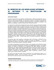 Property restitution - Internal Displacement Monitoring Centre