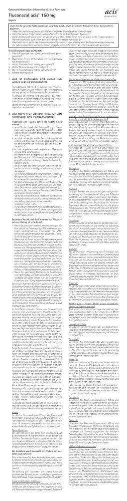Fluconazol acis® 150 mg - acis Arzneimittel