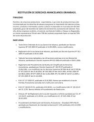 restitución de derechos arancelarios-drawback. - Aduanera del ...