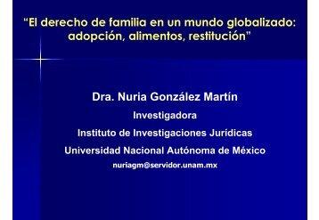 """""""El derecho de familia en un mundo globalizado: adopción ..."""