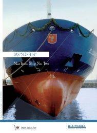 "MarTrust Ship No. Two MS ""SOPHIA"" - Reederei Draxl"