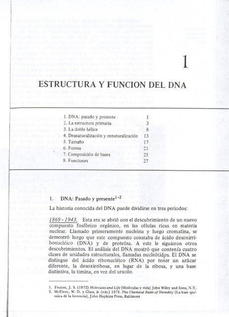 Estructura Y Funcion Del Dna