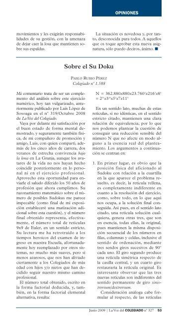 Sobre el Su Doku, por Pablo Rubio Pérez