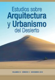 estudios sobre arquitectura y urbanismo del desierto