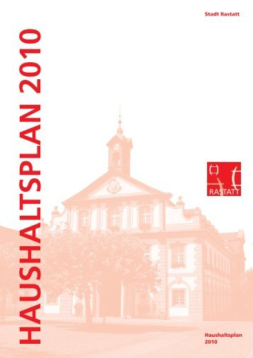 Haushalt 2010 - Stadt Rastatt