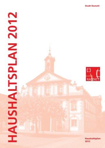 Stadt Rastatt Haushaltsplan 2012