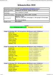 Kilometerliste erstellt am: 22.8.2010, efa - elektronisches ...
