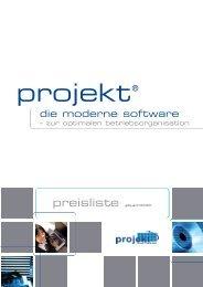 projekt® Software Preisliste - Rasta Solutions