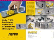 Klacker TM KMS. The shuttering magnets with the ... - Ratec.org
