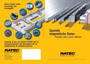 Sponde magnetiche Ratec - Ratec.org