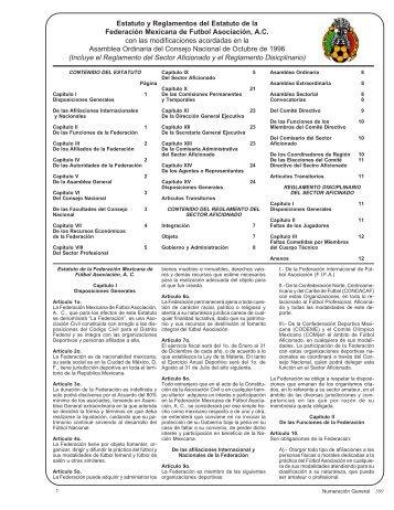 Estatuto y Reglamentos del Estatuto de la ... - Codeme.org.mx