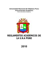 Reglamentos Academicos 2010 - Universidad Nacional del Altiplano