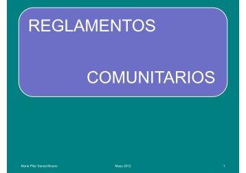 REGLAMENTOS COMUNITARIOS