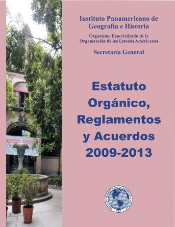 Estatuto Orgánico, Reglamentos y Acuerdos 2009-2013 - Instituto ...