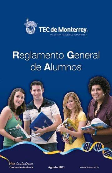 Reglamento General de Alumnos - Tecnológico de Monterrey