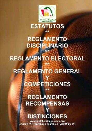 Reglamentos de la FAB - Federación Andaluza de Baloncesto