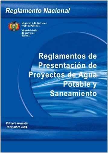 Reglamentos de Presentación de Proyectos de Agua Potable y ...