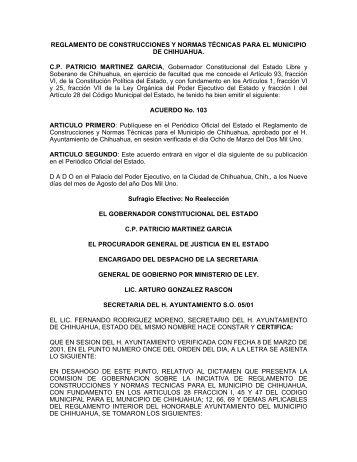 reglamento de construcciones y normas tcnicas para el municipio ...