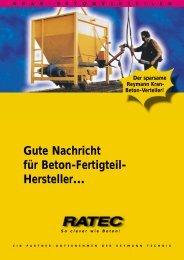 Gute Nachricht für Beton-Fertigteil- Hersteller… - Ratec.org