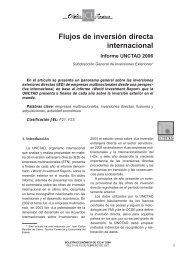 Flujos de inversión directa internacional Informe ... - Biblioteca Hegoa